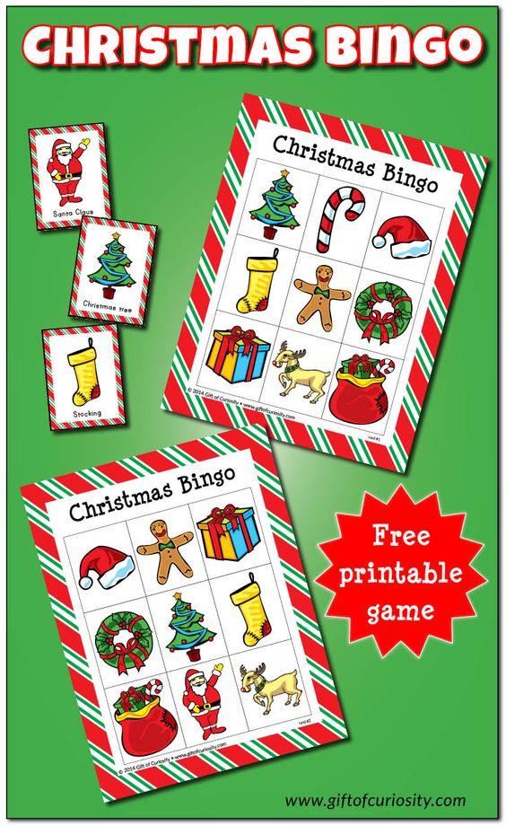 免费打印圣诞宾果游戏与10个不同的扑克牌。大胆,美丽的插图使这个圣诞节游戏很高兴玩!