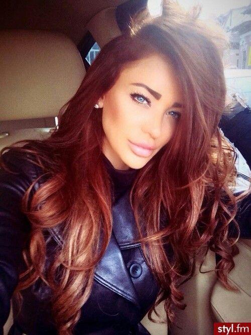 红赤褐色的头发