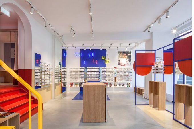 Ace&Tate眼镜店由Spacon&X,哥本哈根 - 丹麦