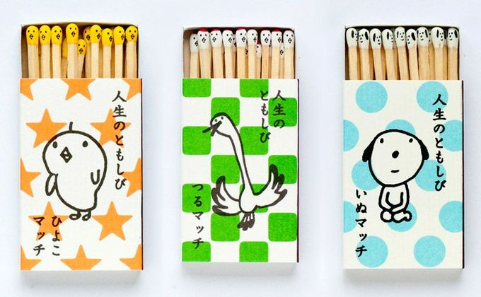 Quirky and Cute Individually Hand-Stamped Kokeshi Matches PD