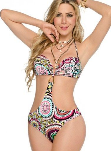 Sandoratto Swimwear - Nice Bandeau Monokini   - There are no responsibilities, no death lines, only to play and to have fun! Wear this bubbly one piece bandeau monokini and have the time of your life in this summer time.    - Price $98