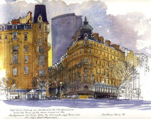Fabrice Moireau sketches Paris
