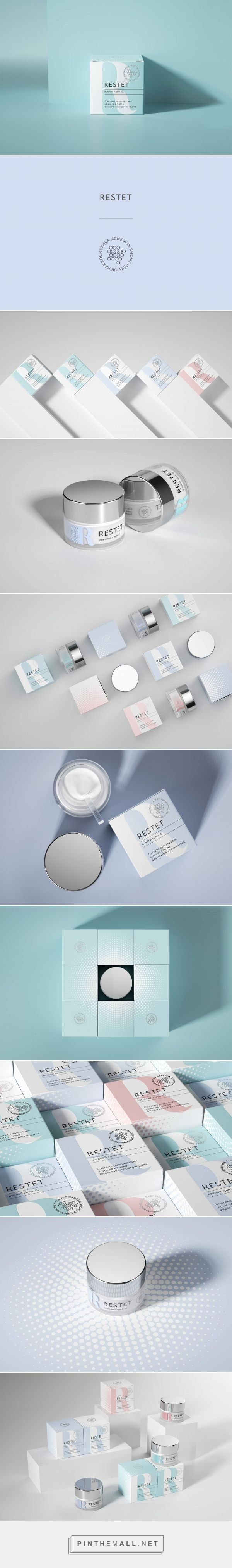 Restet cosmetic packaging design by REPINA branding - https://www.packagingoftheworld.com/2018/06/restet.html