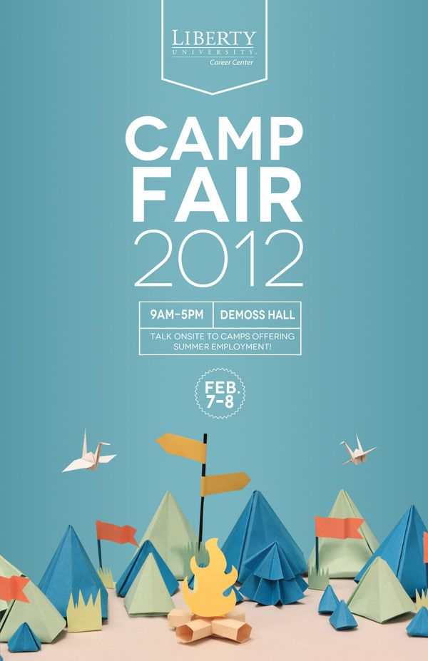 Poster & Flyer Design Liberty University Camp Fair poster.