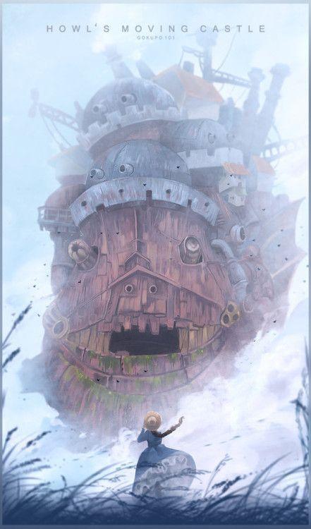 哈尔的移动城堡 - 海报 -  Gokupo101
