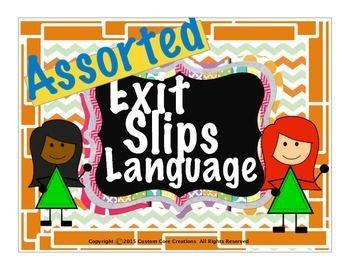 Assorted Language Exit Slips是一款很棒的产品,可以帮助学生将这些词性记忆留在记忆中。这些词性退出单将帮助您的学生成为更好,更高效的作家。包含在此产品中: - 预定出口单 - 形状出口单 - 副词出口单 - 根出口单 - 出口单 - 出口单 - 标记