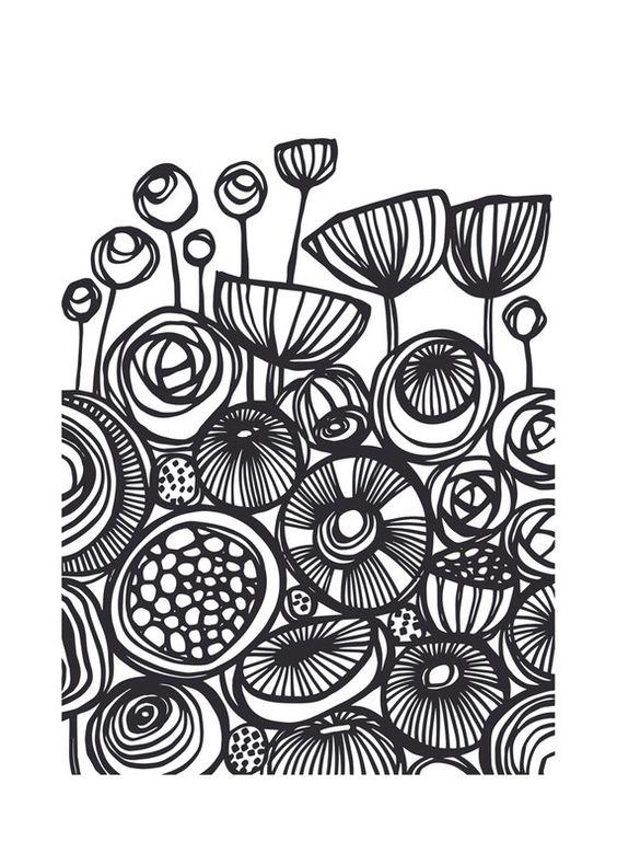 """""""波普艺术花卉"""" -  Gill Eggleston的艺术版画,美丽的框架选择和各种尺寸。"""
