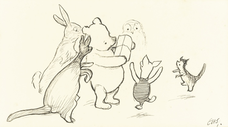 Winnie the Pooh History First E H Shepard Illustration