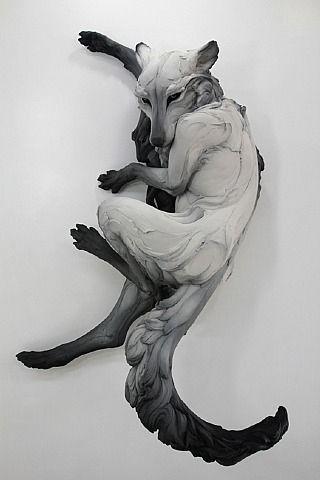 Beth Cavener Stichter creates some gorgeous flowing sculptures of animals