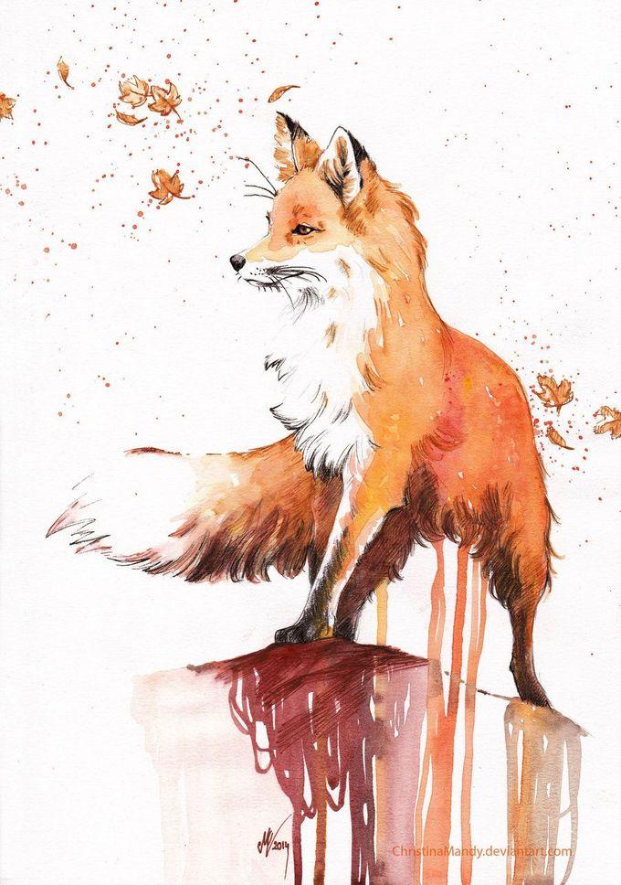 Autumn fox by ChristinaMandy.deviantart.com on @deviantART