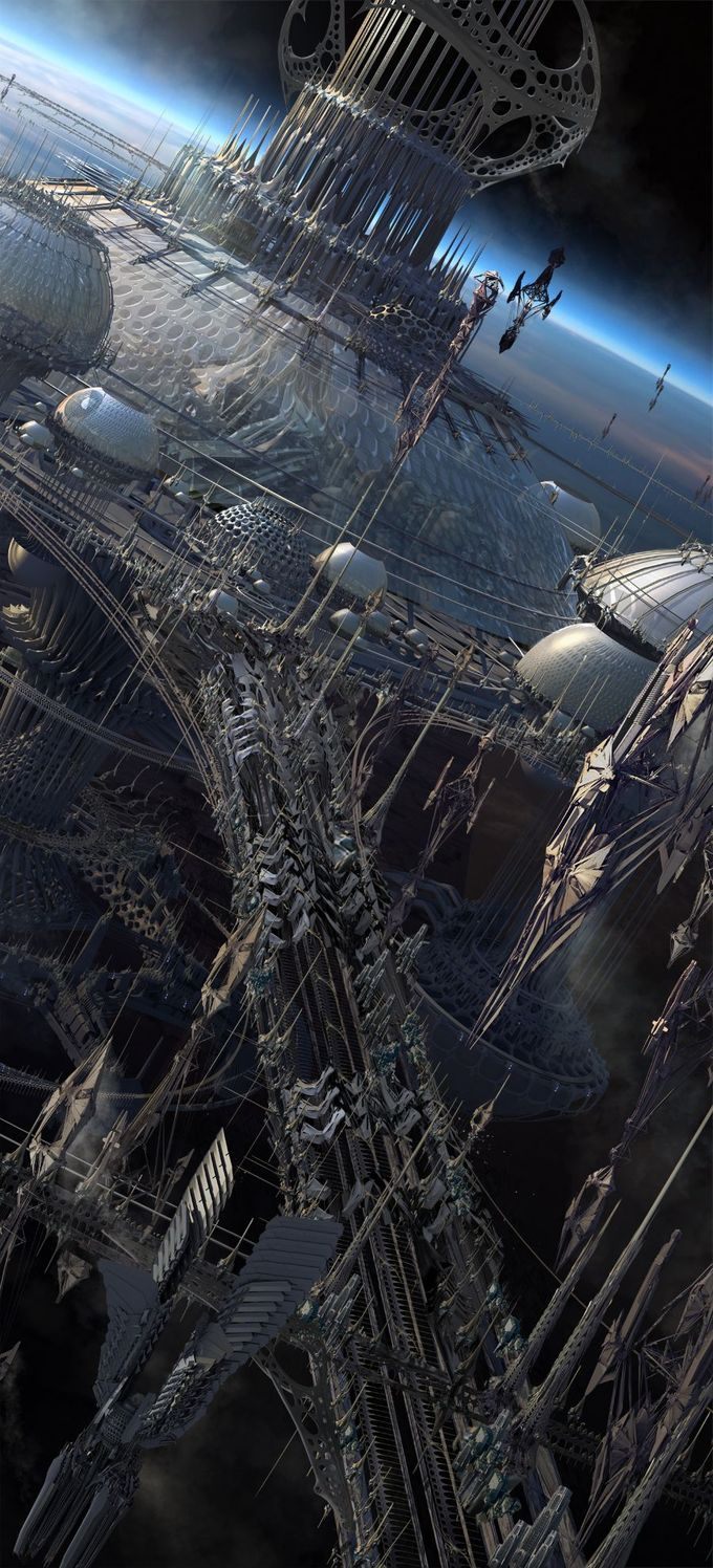 #outerspace #futuristic #city