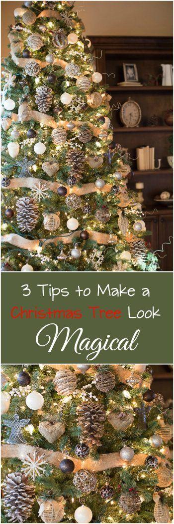 说到装饰树,我学到了很多东西!这些是我的3个提示,让树看起来很神奇!它适用于每一棵圣诞树!