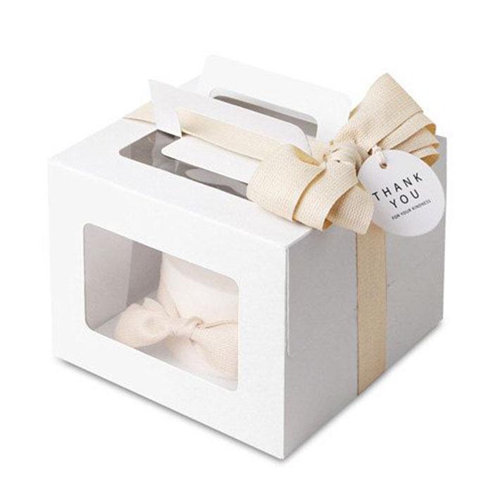 5 X Modern White Mini Cake Box / Pie Boxes / by Twomysterybox