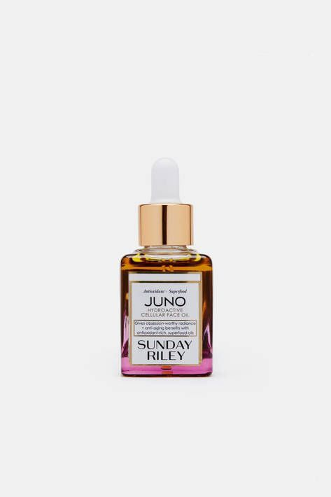 """This anti-aging blend of lightweight, rapidly absorbing oils is high in natural retinol, essential fatty acids, essential amino acids, vitamin C, UV shields, and natural anti-inflammatory agents. """"It makes everyone look radiant and healthy no matter what their skin type is,"""" says Sunday Riley of her best-selling skincare product. Suitable for all skin types, it is rich in antioxidants and leaves skin hydrated, protected, softened, and luminous."""