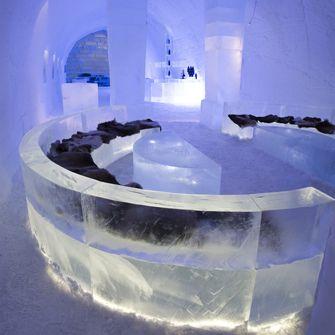 Absolut Ice Bar within the Ice Hotel, Jukkasjarvi, Swedden