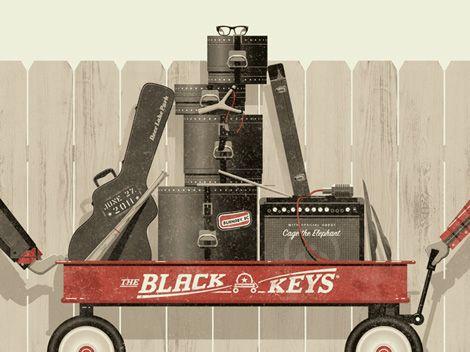 这张Black Keys Radio Flyer灵感海报由洛杉矶设计团队DKNG制作。他们做了很棒的工作,并且(非常棒)是世界着名的Troubadour在H ...的常驻海报艺术家。