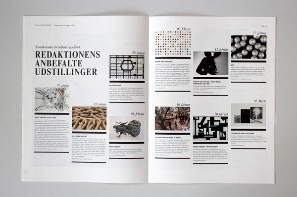 Kunst magasinet by Rikke Hindborg, via Behance