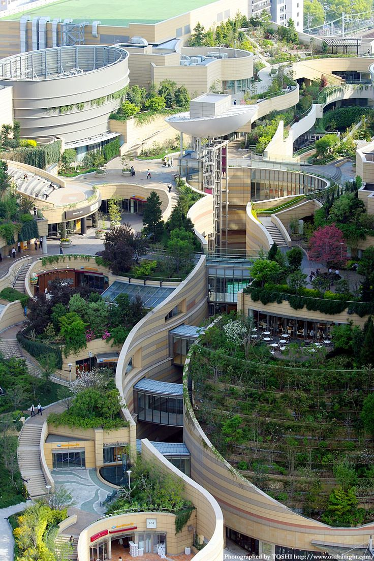 landscape architecture + urban design Namba Parks in Osaka, Japan My home town!
