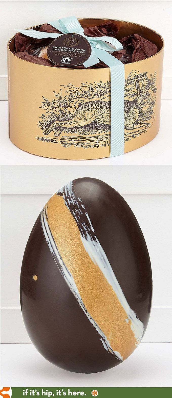 A beautifully packaged Fair Trade Dark Chocolate Easter Egg from Marks and Spencer. PD