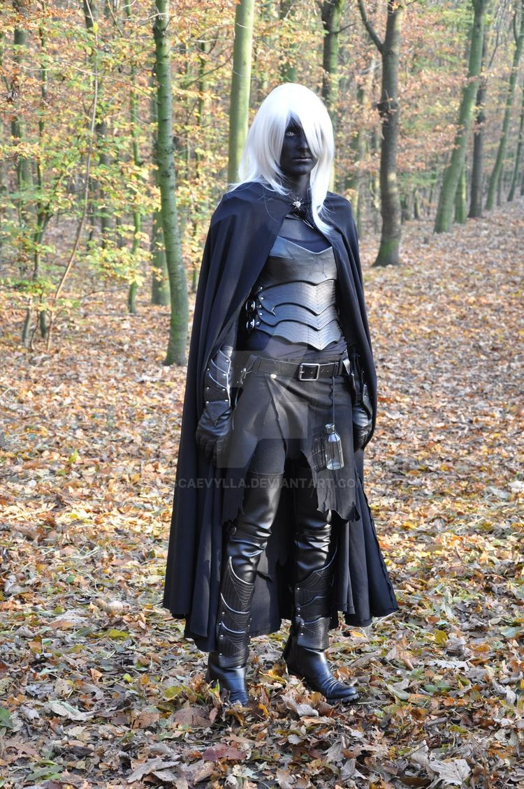 Drow cosplay, dungeons and dragons awesomesauce