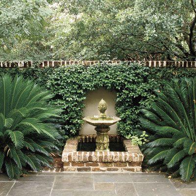 查尔斯顿南卡罗来纳州的庭院