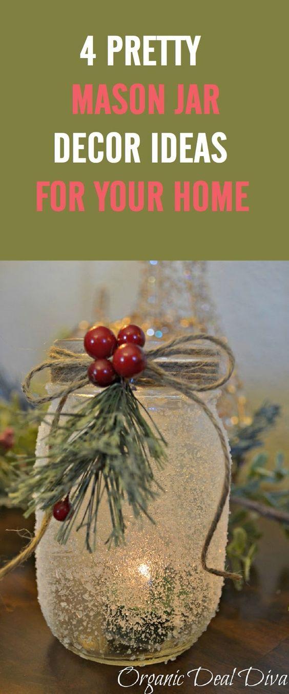 这些简单而华丽的梅森罐装饰理念为您的家提供整容。 #1 Wall Vase消息来源#2烛台SOURCE SOURCE#3照明灯具消息来源#4桌面中心SOURCE