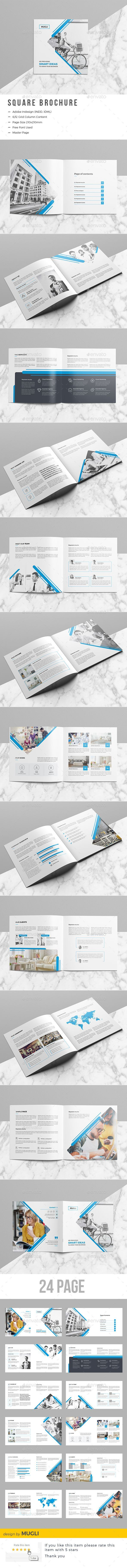 Square Brochure  -  InDesign INDD #square #creative•下载➝https://graphicriver.net/item/square-brochure/19568308?ref=pxcr
