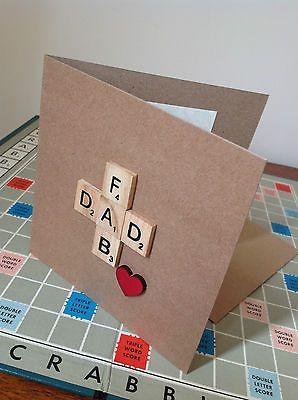 爸爸生日/父亲节卡片。用木心手工制作