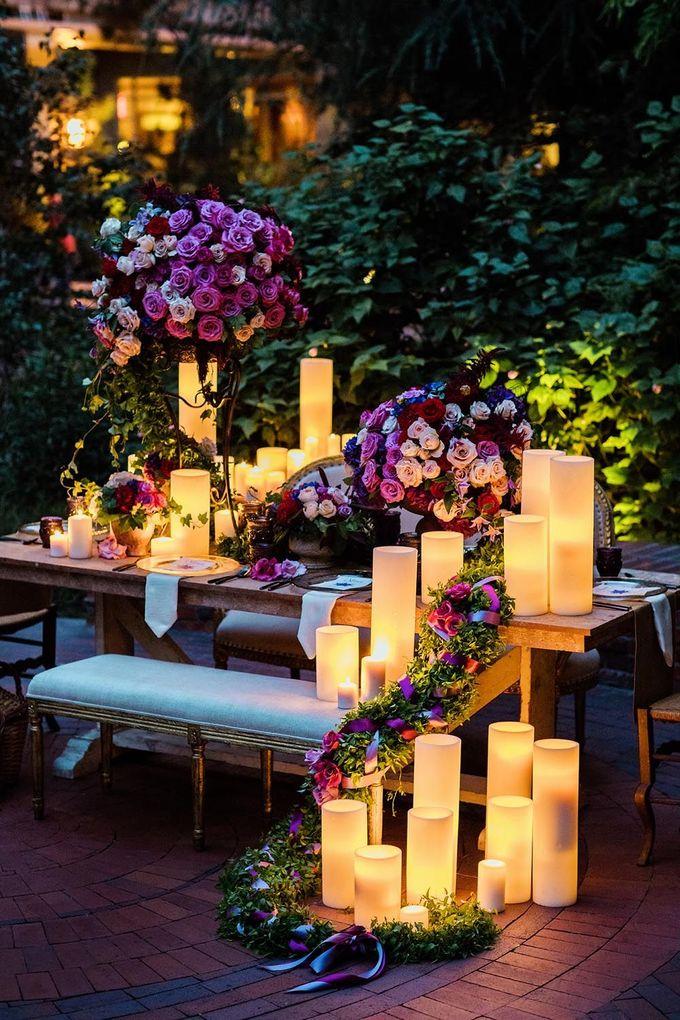 蜡烛装饰灵感来模仿Tangled的灯笼。