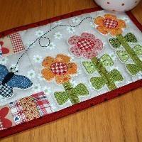 〜绗缝:种植花卉马克杯地毯