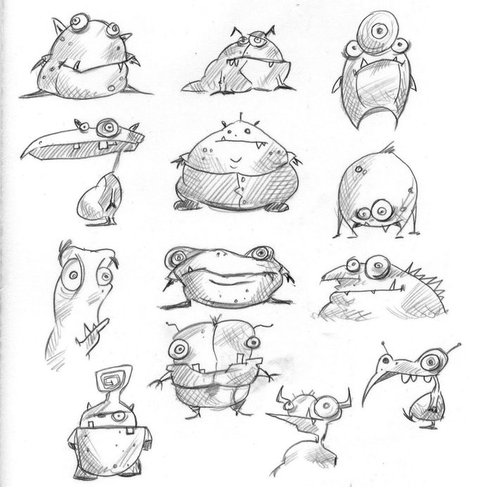 Rob Lawrence: monster sketches for a friend