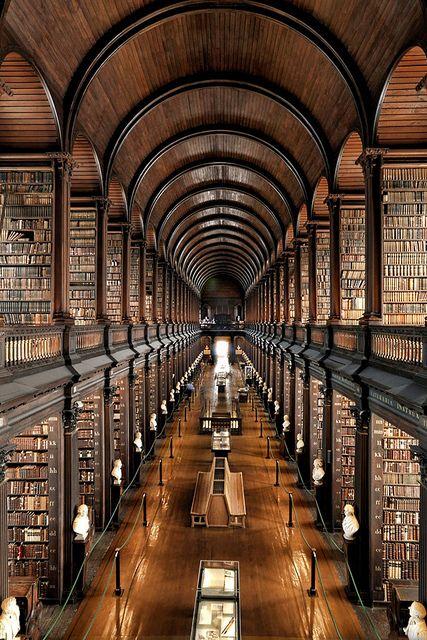 Trinity College Dublin Library—Dublin, Ireland by Brett Jordan, via Flickr