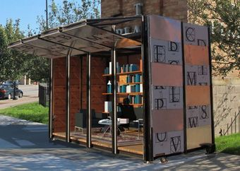 BookBox, a mobile unit of the Cleveland Public Library that connects with users in the community, brings CPL's outreach efforts to Market Square Park.