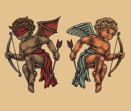 展示两者的符号,善与恶的设计,都是当今纹身设计的最新趋势。下面介绍的是基于这个概念的男性和女性纹身的想法。
