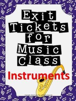 退出门票音乐课形成性评估 - 乐器音乐课形成性评估从未如此简单!退出门票或退出通行证是衡量学生理解能力的好方法,以便您的计划时间更加有效,而且您的计划时间更有效