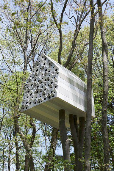Bird Apartment - Komoro City, Japan - 2012 - Nendo #treehouse #nest #house #nendo #nature #landscape#birds