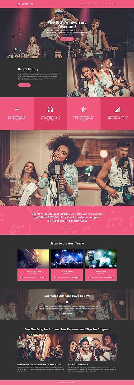 您喝咖啡休息时的音乐网站灵感?浏览更多WordPress #templates! //正常价格:75美元//可用来源:.PHP,这个主题是widgetized #Music #WordPress