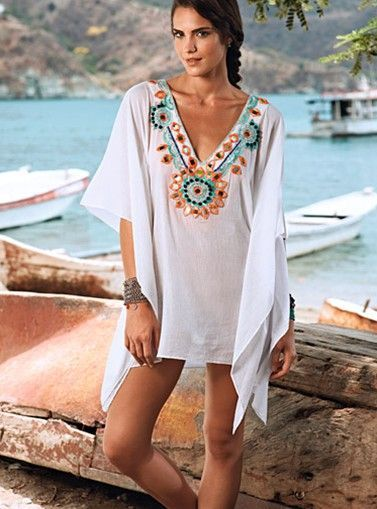 La Preciosa Beach Cover-Up   - Get enough determination to make each day better than yesterday and enough willpower to get this fearless white beach cover-up!   - Price $168