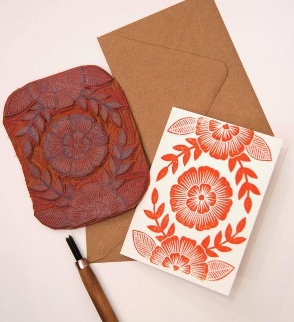 凯瑟琳沃森的手工雕刻邮票非常鼓舞人心。