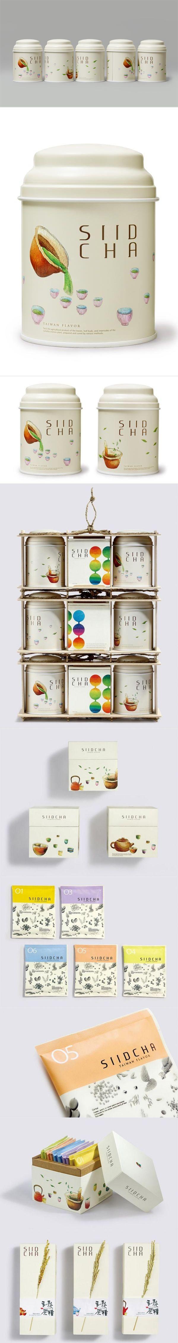 台湾吾谷茶粮 SIID CHA 系列包裝设计 beautiful #tea #packaging #branding PD