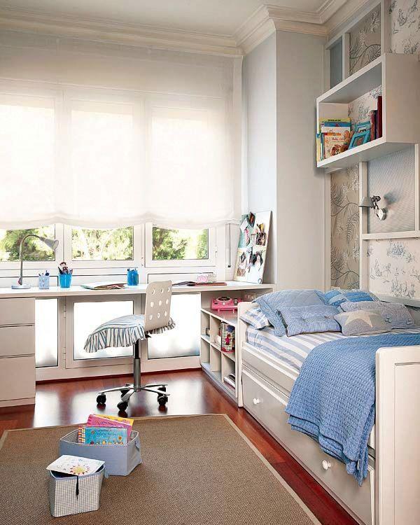 实用的儿童房设有窗户| Nicety Deco