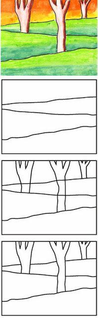 如果您使用图层绘制景观,您的艺术自然会更深入。按照这个公式制作一个简单的冬季绘图,以非常简单的格式创建所有三个图层。材料•分层景观PDF教程•多媒体纸•铅笔•油画棒,我更喜欢品牌组合品牌方向1.每个学生画三条线,在水平纸上每侧倾斜一点。这些部分将分别代表图片中的前景,中间地面和背景。学生们每人画三个简单的树形,一个从每条线向上延伸。所有这些都应该分散到分支室。 3.然后需要擦除每棵树内的地线。然后学生将用黑色粉笔追踪所有铅笔线。最后,山丘,树木和天空都要用油画棒填充。年龄较小的学生,如一年级和二年级,可能只专注于他们的着色。三年级和以上的学生也可以在他们的树木和草地上添加阴影。大多数粉彩有深绿色,浅橙色,黄色和棕色,可用于遮盖每个部分以使其深度。如果你使用水溶性粉彩,你也可以用水刷艺术品,以平滑颜色之间的边缘。注意:此帖子包含会员链接。保存绘制分层景观订阅下载此PDF教程,并接收新产品和独家优惠的通知。成功!现在查看您的电子邮件以确认您的订阅。提交订阅时出错。请再试一次。名字电子邮件地址我们使用此字段来检测垃圾邮件机器人。如果您填写此内容,您将被标记为垃圾邮件发送者。下载景观教程我们不会向您发送垃圾邮件。随时取消订阅。由ConvertKit提供支持