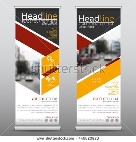 Yellow roll up business brochure flyer banner design vertical template vector, cover presentation abstract geometric background, modern publication x-banner and flag-banner, layout in rectangle size.