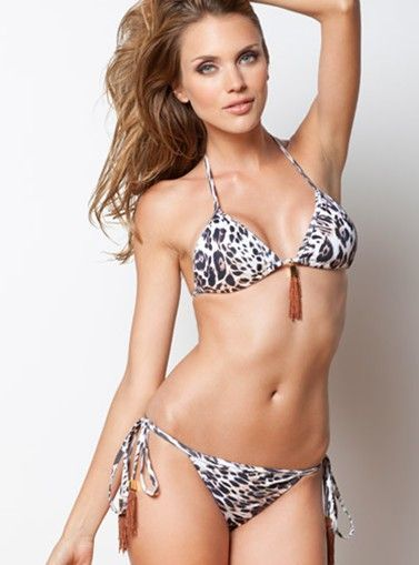 Tatiana Triangle Bikini - Animal Print   - TOP   Triangle top two piece bathing suit     - BOTTOM   Moderate back coverage   - Price $195