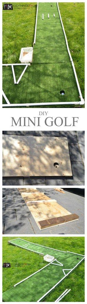 建立你自己的DIY迷你高尔夫球场,为大家提供后院乐趣 - 你需要的只是一些胶合板,一些PVC和甲板螺钉!轻松构建 - 即使是初学者!