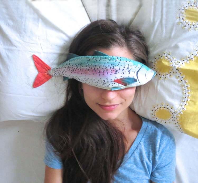 AliaGraceDolls薰衣草鱼有机亚麻和薰衣草眼
