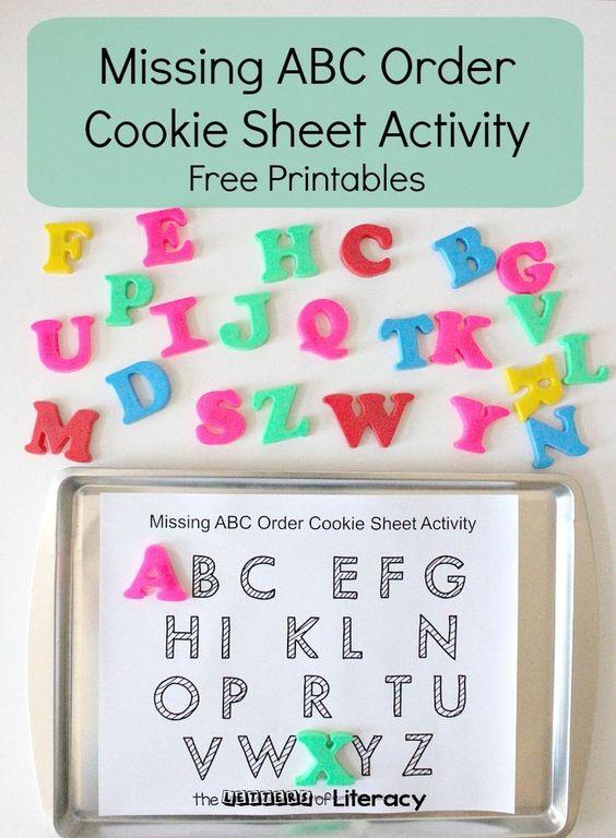 通过这个免费的缺失字母cookie表活动,教授字母顺序和字母识别更加有趣!