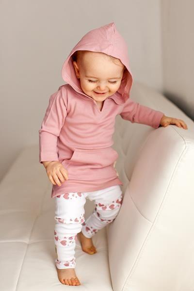 紫红色的心婴儿护腿| ROOLEE宝贝