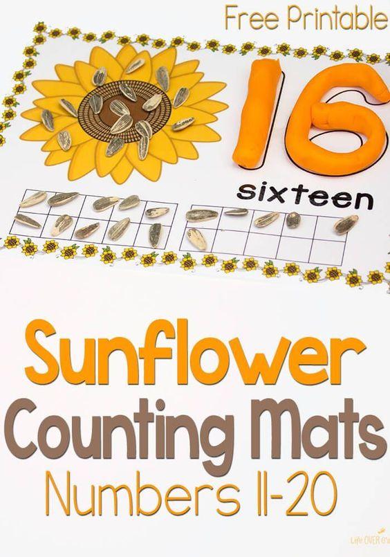 昨天,我分享了数字1-10的向日葵游戏面团垫。这些免费向日葵玩数字11-20面团垫是计数乐趣的下一步!随着我们其他有趣的秋季玩面团垫计数,你可以有相当的收藏,让你的孩子有兴趣计数!你可以看到完整的列表...