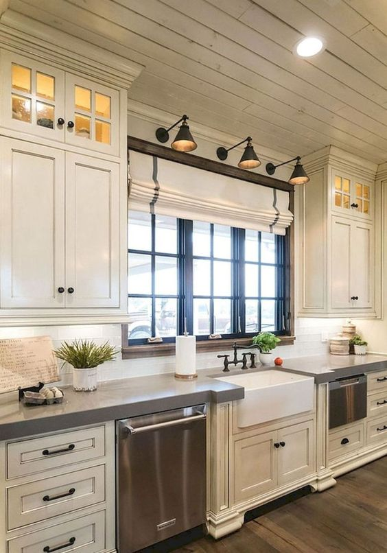 美丽的农舍厨柜改造理念(74)